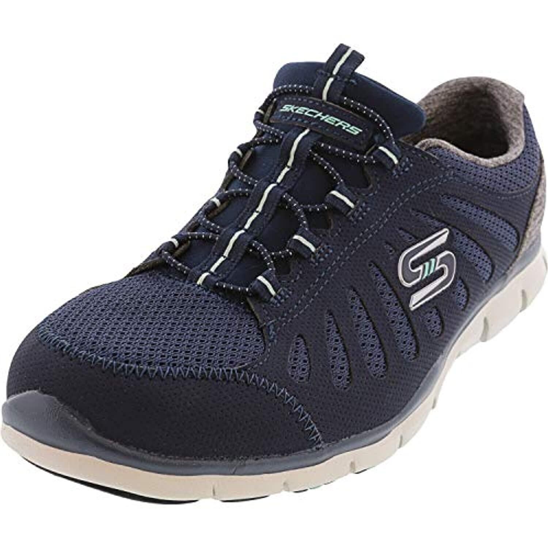 Sneaker, Navy, 8 Wide - Overstock