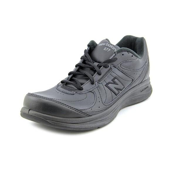 New Balance MW577 Men Round Toe Leather Black Walking Shoe