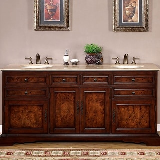 Link to Silkroad Exclusive Watsonville 72-inch Double Sink Bathroom Vanity Similar Items in Bathroom Vanities