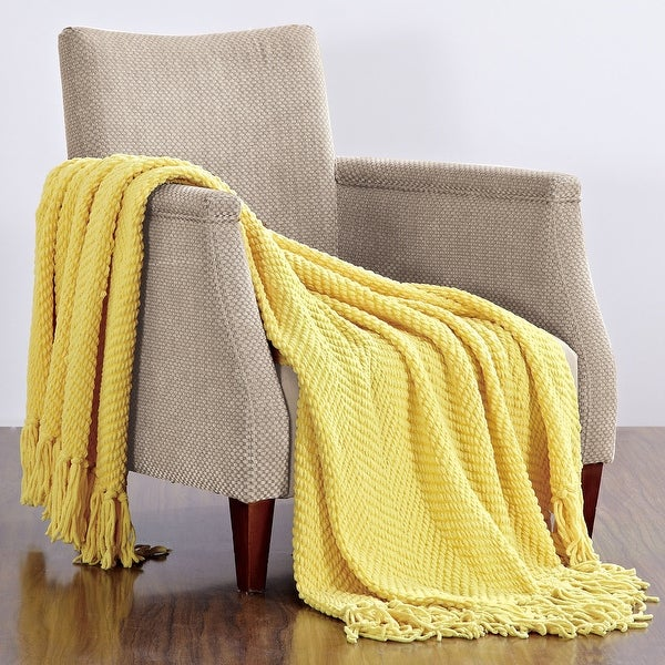Home Soft Things Jumbo Knitted Tweed Throw Blanket. Opens flyout.
