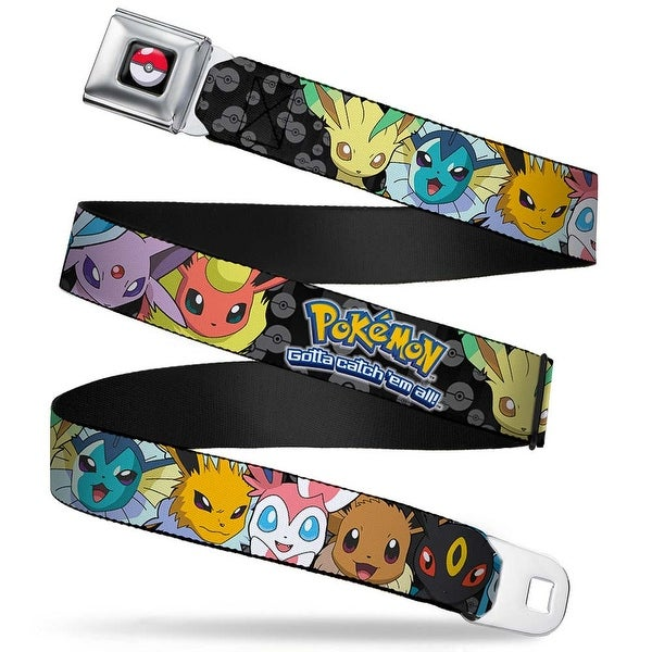 Pok Ball Full Color Black Pokmon Eevee Evolution Close Up Faces Pok Ball Seatbelt Belt