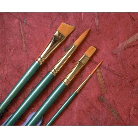 Princeton 4350fb-4 good synthetic sable watercolor and acrylic brush filbert 4