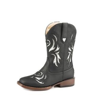 Roper Western Boots Girls Glitter Breeze Black