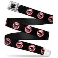 Dodge Red Rhombus Full Color Dodge Scat Pack Club Bumblebee Logo Black Red Seatbelt Belt