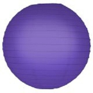 Pack of 5 Dark Purple Garden Patio Round Chinese Paper Lanterns 10""