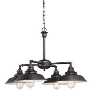 """Westinghouse 6343300 Iron Hill 4 Light 25-3/16"""" Wide Chandelier"""