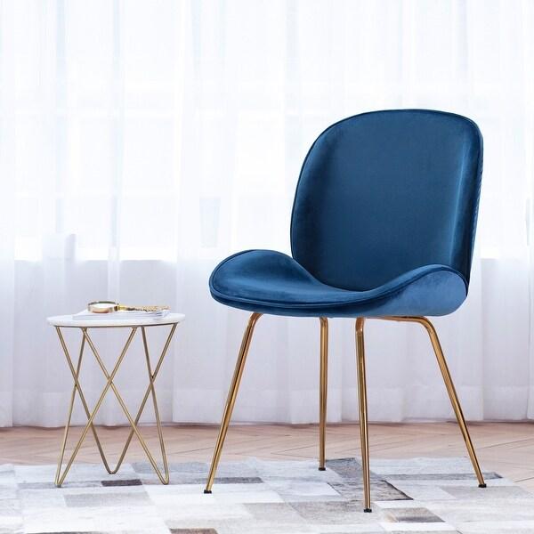Shell Shape Velvet Uphostered Dining Room Side Chair. Opens flyout.