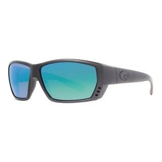 COSTA DEL MAR Sport Tuna Alley Men's TA 01 Matte Black Blue Sunglasses - 61mm-13mm-114mm