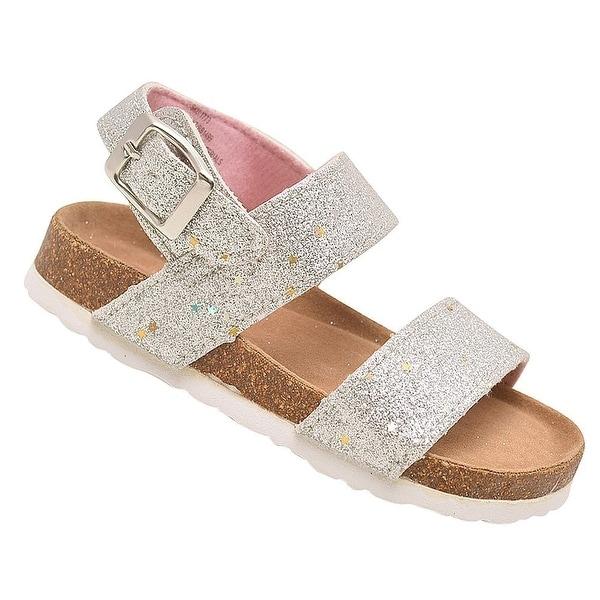 53b67ac024764f Shop Rugged Bear Little Girls Silver Glitter Buckle Strap Cork ...