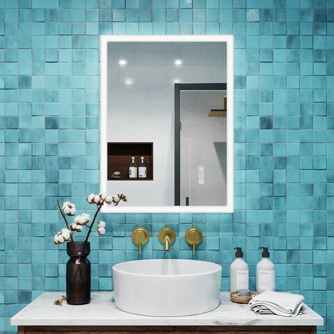 Memory Touch LED Anti-fog Wall-mount Vanity Mirror