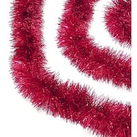 12' Soft and Sassy Red Christmas Tinsel Garland - Unlit