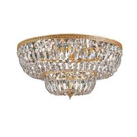 """Crystorama Lighting Group 748-CL Ceiling Mount 24 Light 48"""" Wide Flush Mount Cei"""