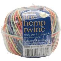 Darice 1984-45 200 ft. Fine Hemp Cord Twine-Rainbow