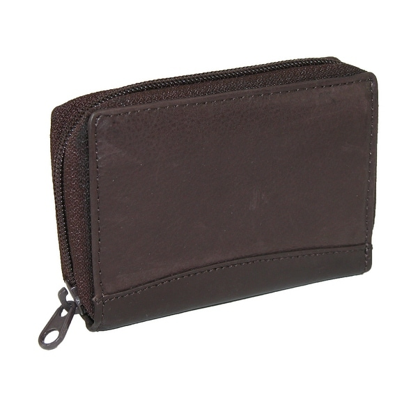 Paul & Taylor Men's Leather Zip Around Accordion Credit Card Wallet - One size