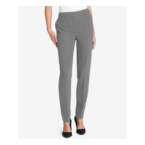 DKNY Womens Gray Wear To Work Pants Size 2