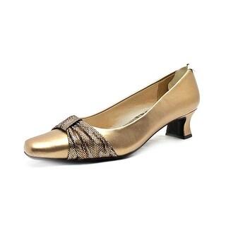 Easy Street Waive Women N/S Pointed Toe Leather Bronze Heels