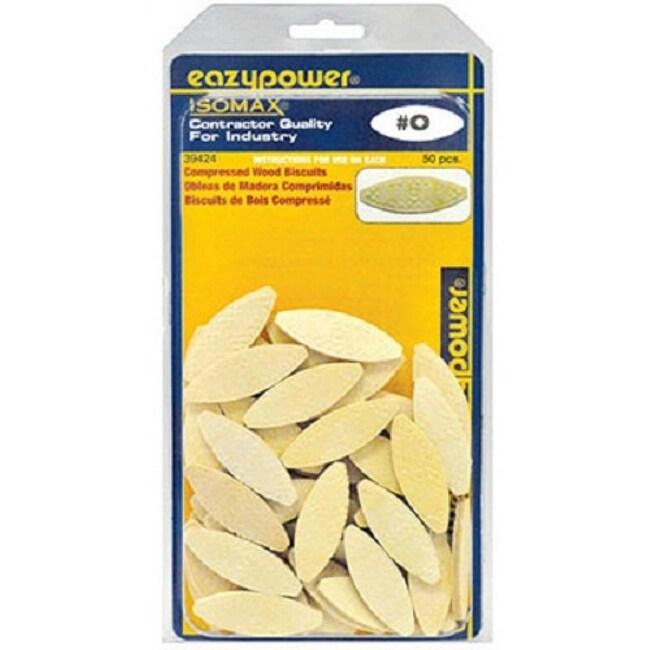 Eazypower 39424 Compressed Wood Biscuits, #0, 50-Pack
