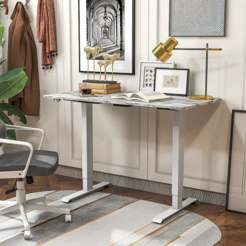 """Furniture of America Carlos 47"""" Electric-Powered Standing Office Desk"""