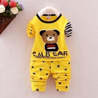 children clothing set kids clothes Bear carters boy girl clotheslong sleeve coat+pants 2pcs clothing set infant clothing