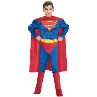 Rubies Superman Deluxe Muscle Chest Superman Toddler/Child Costume - Red/Blue