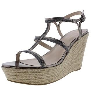 Pelle Moda Womens Cora Glitter Espadrilles Wedge Sandals