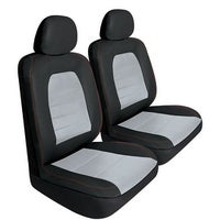 Pilot Automotive Universal Black Synthetic Leather Super Sport Seat Cover Set Of 6
