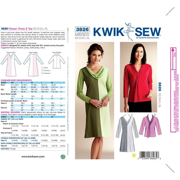 Dress & Top-XS-S-M-L-XL *SEWING PATTERN* -*SEWING PATTERN*