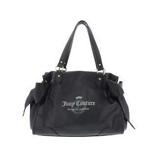 Juicy Couture Womens Namesake Shoulder Handbag Faux Leather Embroidered - Medium