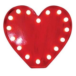 Sylvania V88334-71 Tabletop LED Heart, Red