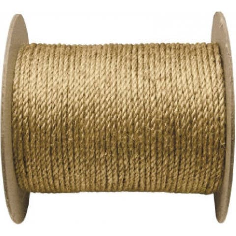 "Wellington 28771 Twisted Manila Rope 3/8"" x 600', Natural Fiber"