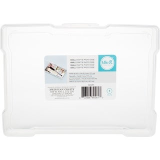 """We R Craft & Photo Translucent Plastic Storage-5""""X7"""" Case"""