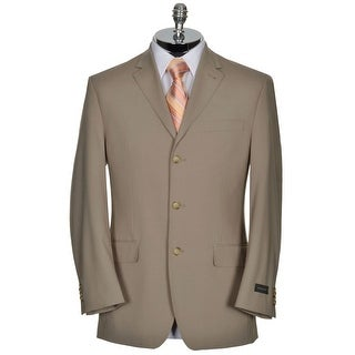 Sean John Big and Tall Sportcoat 50 Regular 50R Taupe Regular Fit 3-Buttons