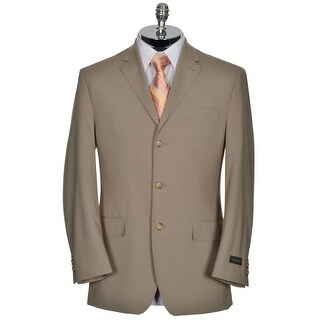Sean John Mens Taupe Sport Coat 38 R 38R Jacket Sportcoat 3-Buttons Blazer