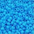 Toho Round Seed Beads 8/0 43 Opaque Blue Turquoise 8 Gram Tube - Thumbnail 0