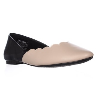 Wanted Kristy Scalloped Ballet Flats - Nude, 7.5 US