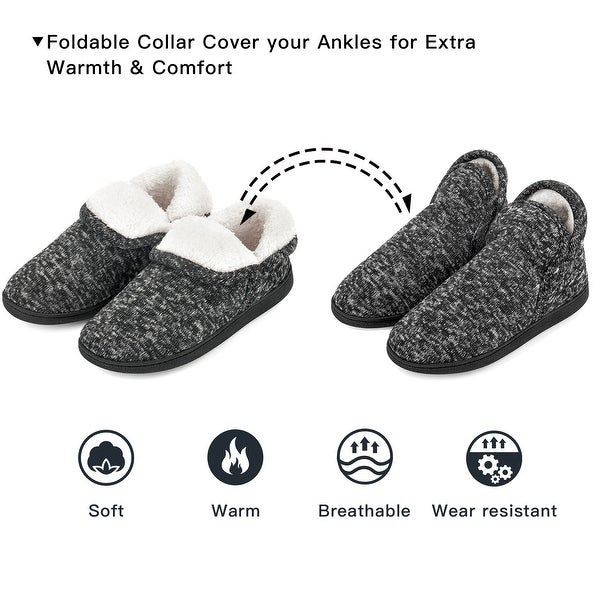 VONMAY Women's Fuzzy Slippers Boots