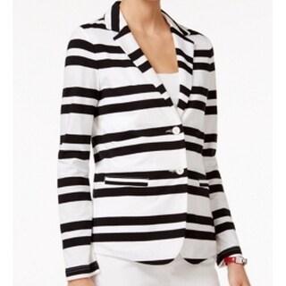 Tommy Hilfiger NEW White Black Women's Size Medium M Striped Jacket