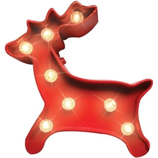 Home Plus 54040-71H LED Lighted Christmas Deer Table, Red
