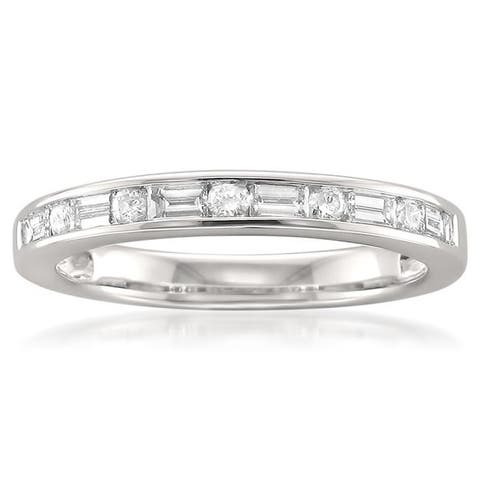 Montebello 14KT White Gold 1/2ct TDW Diamond Wedding Band