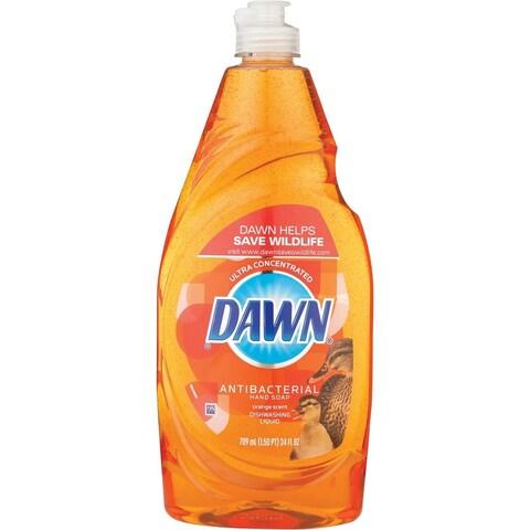 Dawn 22206 Anti-Bacterial Dishwashing Liquid, Orange Scent, 24 Oz
