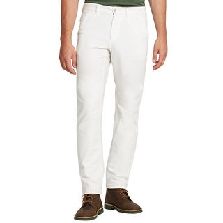 Eidos Napoli By Isaia Beta Whipcord Workpant Bright White Pants