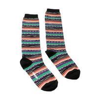Missoni GM00CMD4939 0003 Green/Orange Knee Length Socks