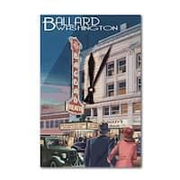 Bagdad Theatre - Ballard, Seattle, WA - LP Artwork (Acrylic Wall Clock) - acrylic wall clock