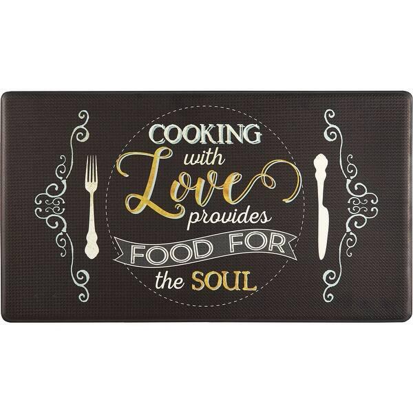 Shop Home Dynamix Cook N Comfort Anti Fatigue Kitchen Mat 19 6 X35 4 Overstock 31289847