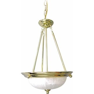 "Volume Lighting V2283 Marti 3 Light Bowl Shaped 22"" Height Pendant with Alabaste"