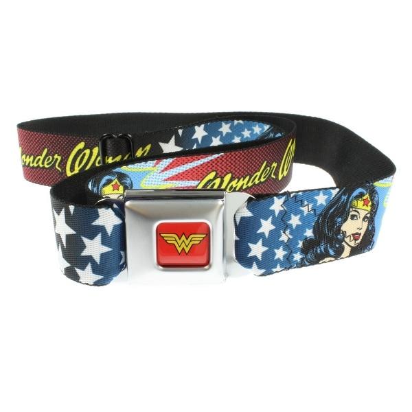 Wonder Woman Stars and Stripes Seatbelt Belt