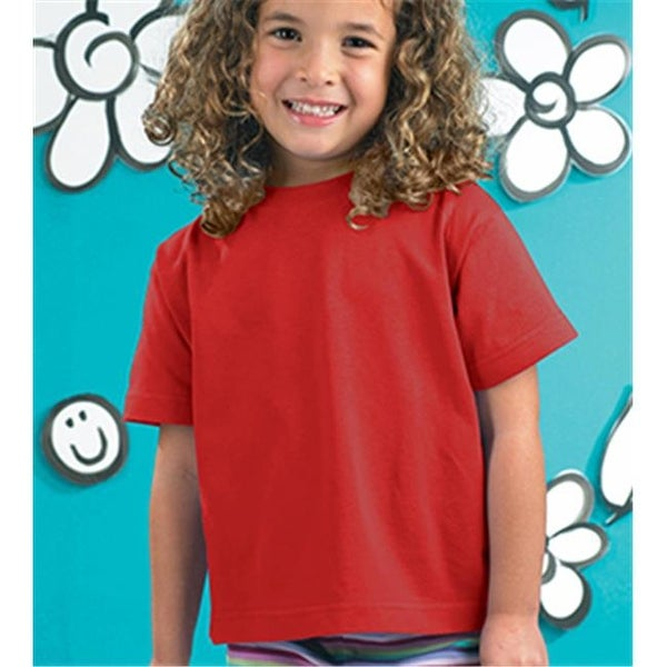 Rabbit Skins 3301T Toddler T-Shirt, Red, 3T