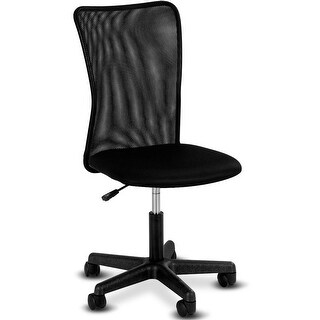 Gymax Modern Ergonomic Mesh Mid-Back Office Chair Swivel Armless Computer Desk Task