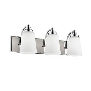"Millennium Lighting 1443 3 Light 24"" Wide Bathroom Vanity Light with Glass Shades"