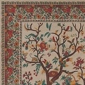 Handmade 100% Cotton Tree of Life Tapestry Tablecloth Bedspread Coverlet Beach Sheet Tan Twin Full Queen & King - Thumbnail 3